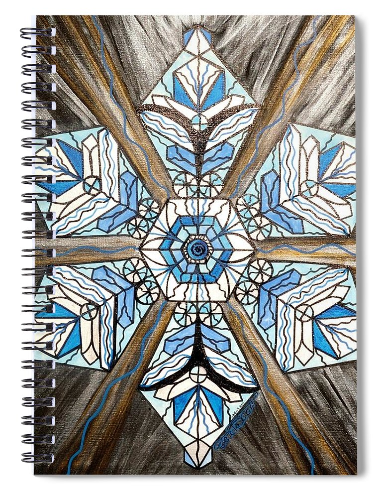 Truth Spiral Notebook featuring the painting Truth by Teal Eye Print Store