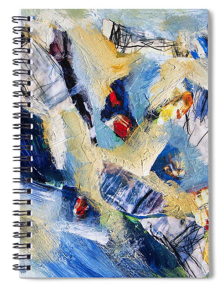 Abstract Spiral Notebook featuring the painting Tsunami 2 by Dominic Piperata