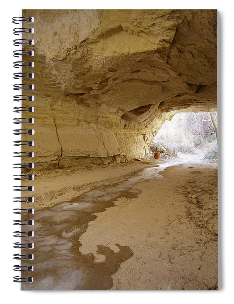 Mineral Spiral Notebook featuring the photograph Tunnel by Sandsun