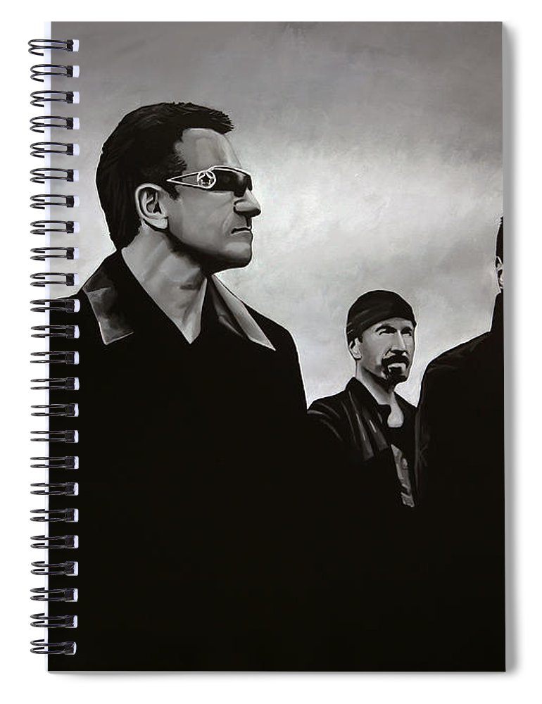 U2 Spiral Notebook featuring the painting U2 by Paul Meijering