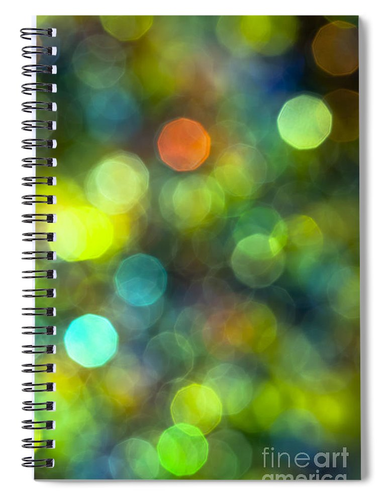 Abstract Spiral Notebook featuring the photograph Underwater World by Jan Bickerton