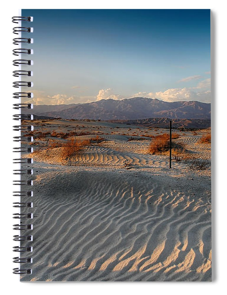 Palm Desert Spiral Notebook featuring the photograph Unspoken by Laurie Search