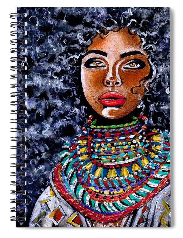 Artbyria Spiral Notebook featuring the photograph Untamed Beauty by Artist RiA