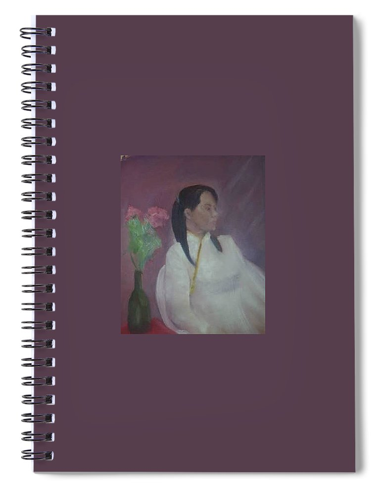 Woman Spiral Notebook featuring the painting Untitled #2 by Sheila Mashaw