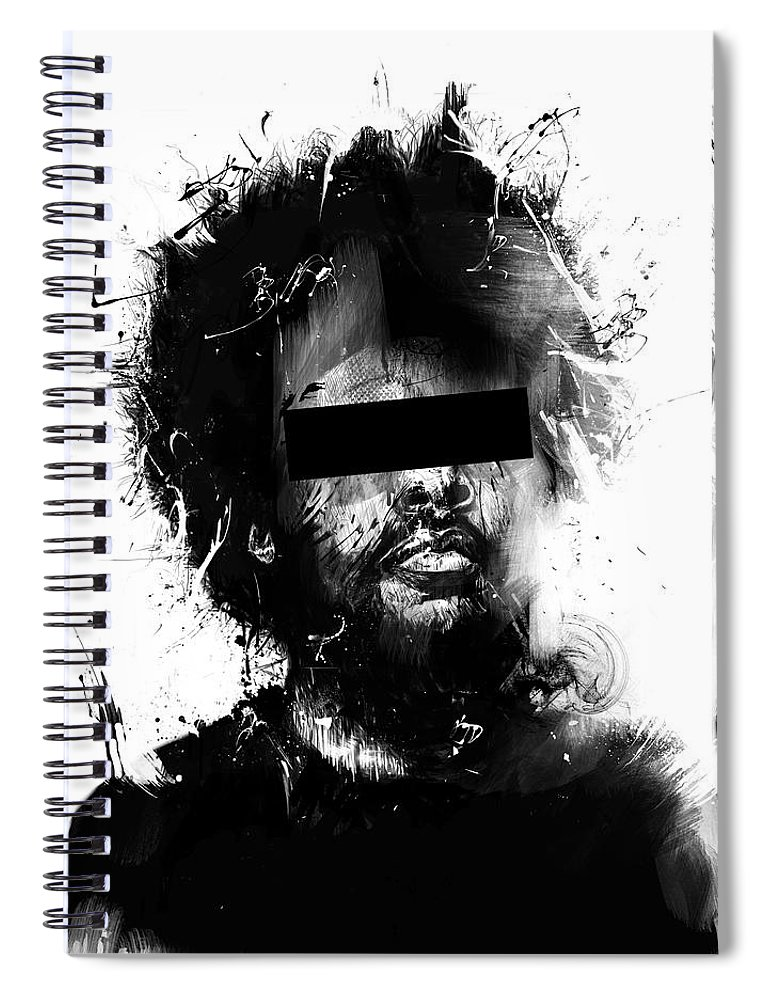 Man Spiral Notebook featuring the mixed media Untitled by Balazs Solti