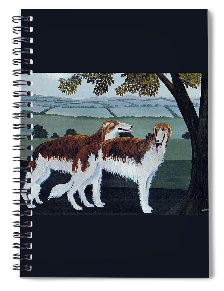 Borzoi Spiral Notebook featuring the photograph Untitled by Maggie Rowe