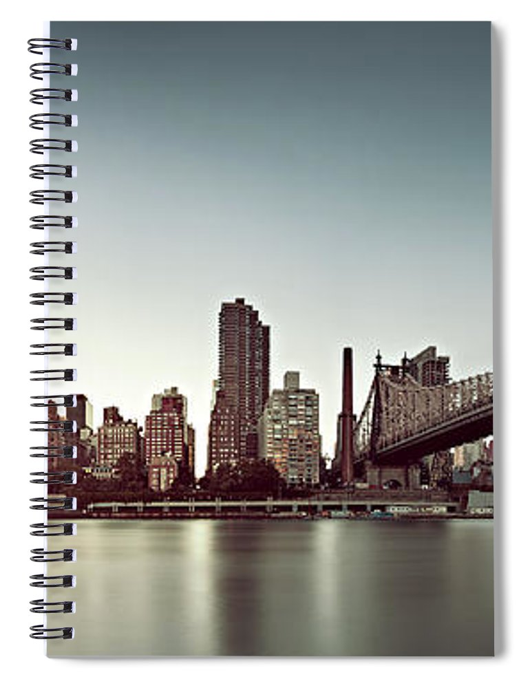 Panoramic Spiral Notebook featuring the photograph Upper East Side by Ricowde