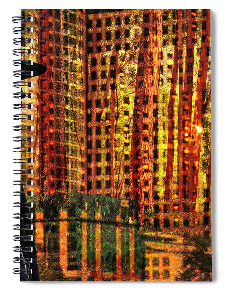Urban Guru Spiral Notebook featuring the photograph Urban Guru by Skip Hunt