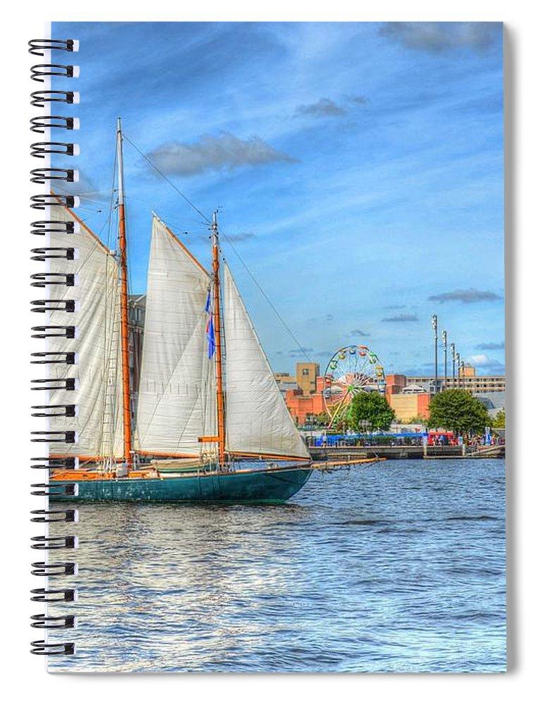 Sail Spiral Notebook featuring the photograph Urban Sailing by Debbi Granruth