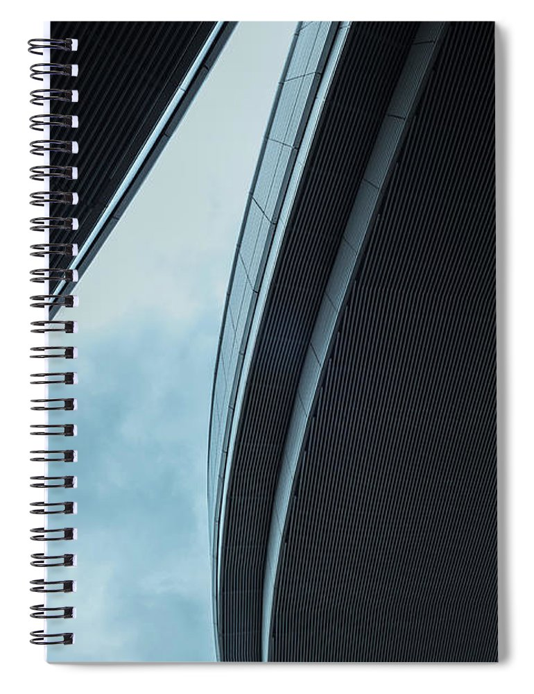 Curve Spiral Notebook featuring the photograph Urban Structure by Sasaki Makoto