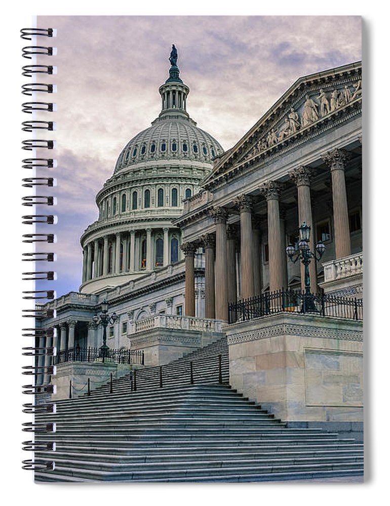 Tranquility Spiral Notebook featuring the photograph Us Capitol Building And Senate Chamber by Mbell
