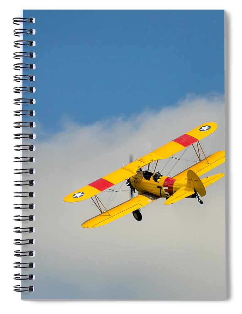 Aviation Spiral Notebook featuring the photograph Us Navy N2s-5 by Guy Whiteley
