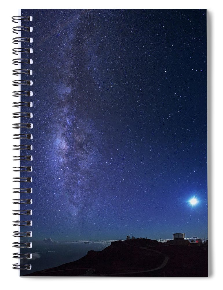 Tranquility Spiral Notebook featuring the photograph Usa, Hawaii, Maui, Milky Way by Michele Falzone
