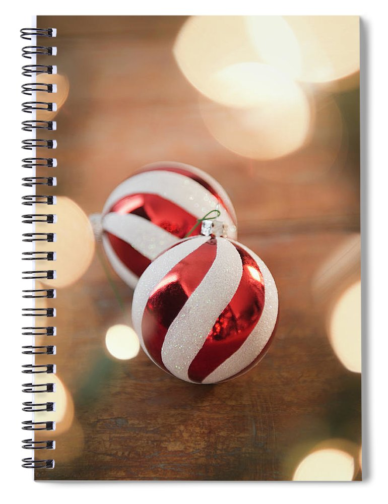 Christmas Ornament Spiral Notebook featuring the photograph Usa, New Jersey, Jersey City, Christmas by Jamie Grill