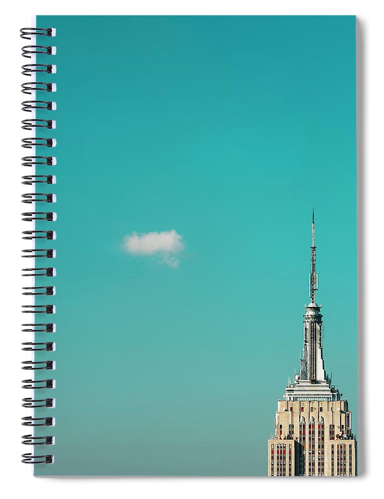 Outdoors Spiral Notebook featuring the photograph Usa, New York City, Empire State by Tetra Images