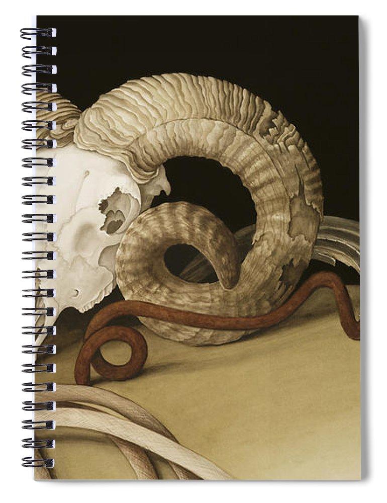 Vanitas Spiral Notebook featuring the painting Vanitas by Jenny Barron