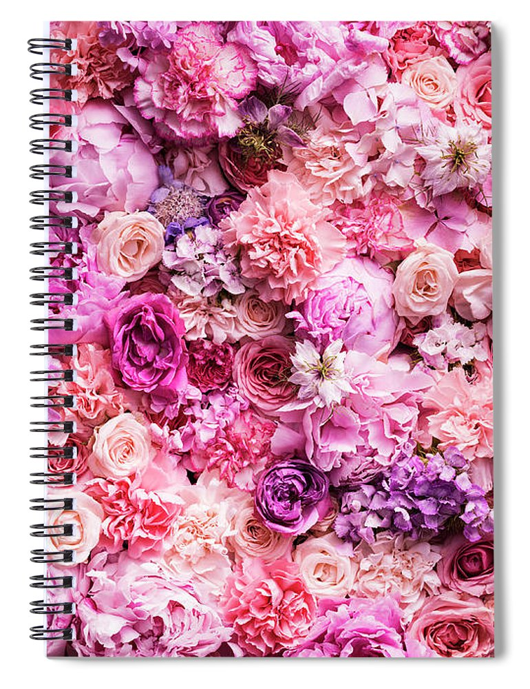 Tranquility Spiral Notebook featuring the photograph Various Cut Flowers, Detail by Jonathan Knowles