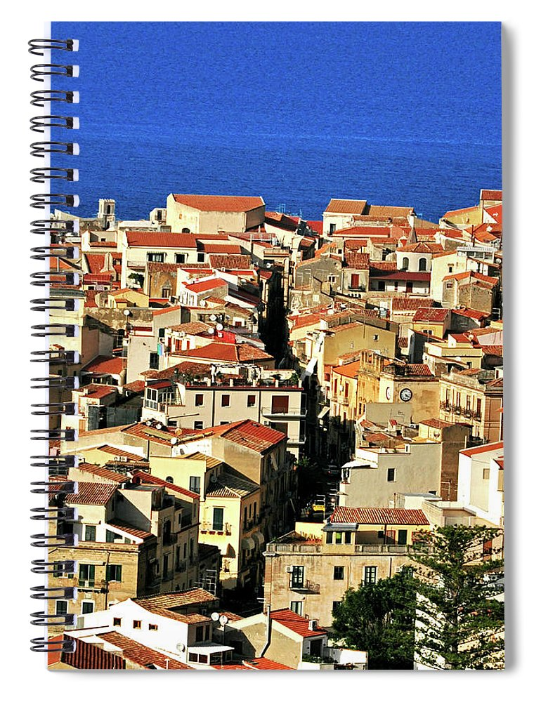 Tyrrhenian Sea Spiral Notebook featuring the photograph Veins Of Cefalu by Image Brought To You Through The Eye Of Andrew Parker