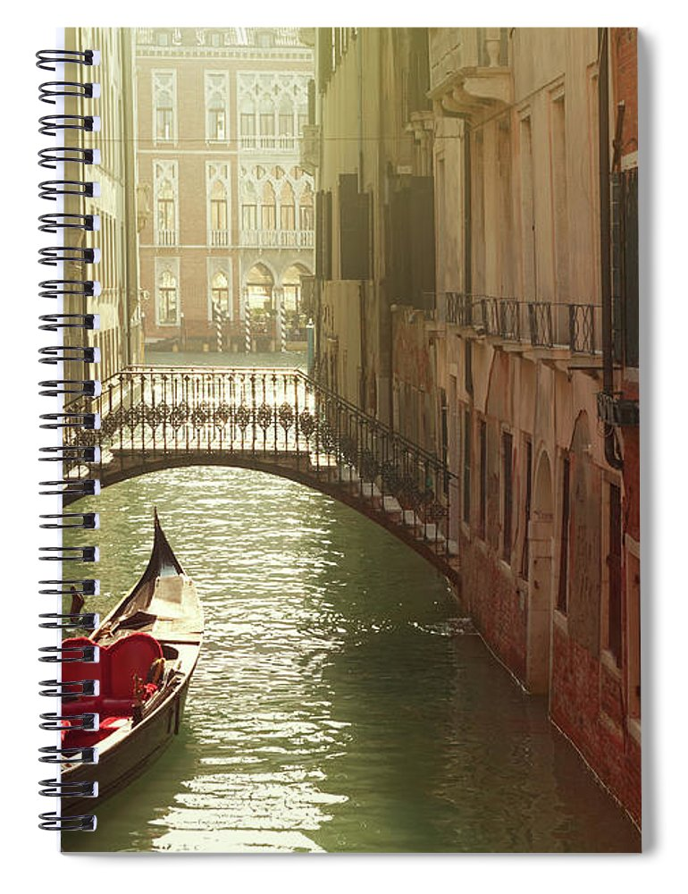 Veneto Spiral Notebook featuring the photograph Venetian Canal by Mammuth