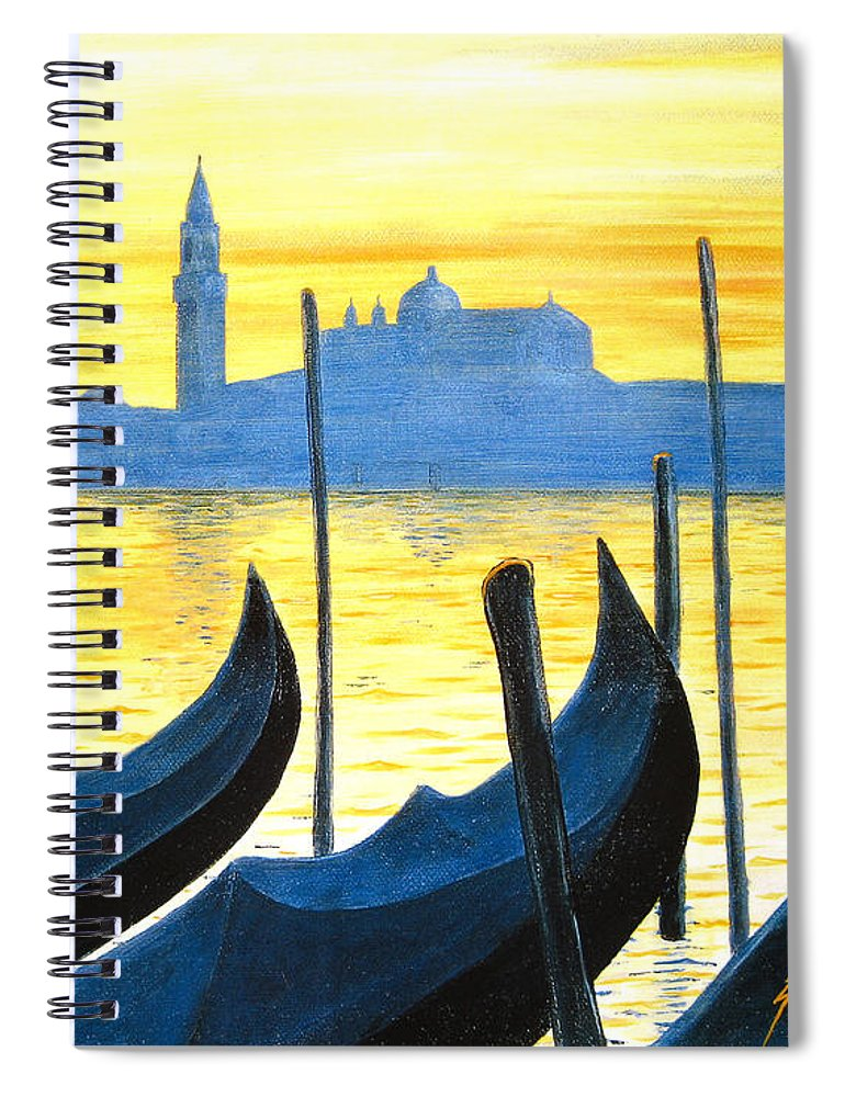Venice Spiral Notebook featuring the painting Venezia Venice Italy by Jerome Stumphauzer