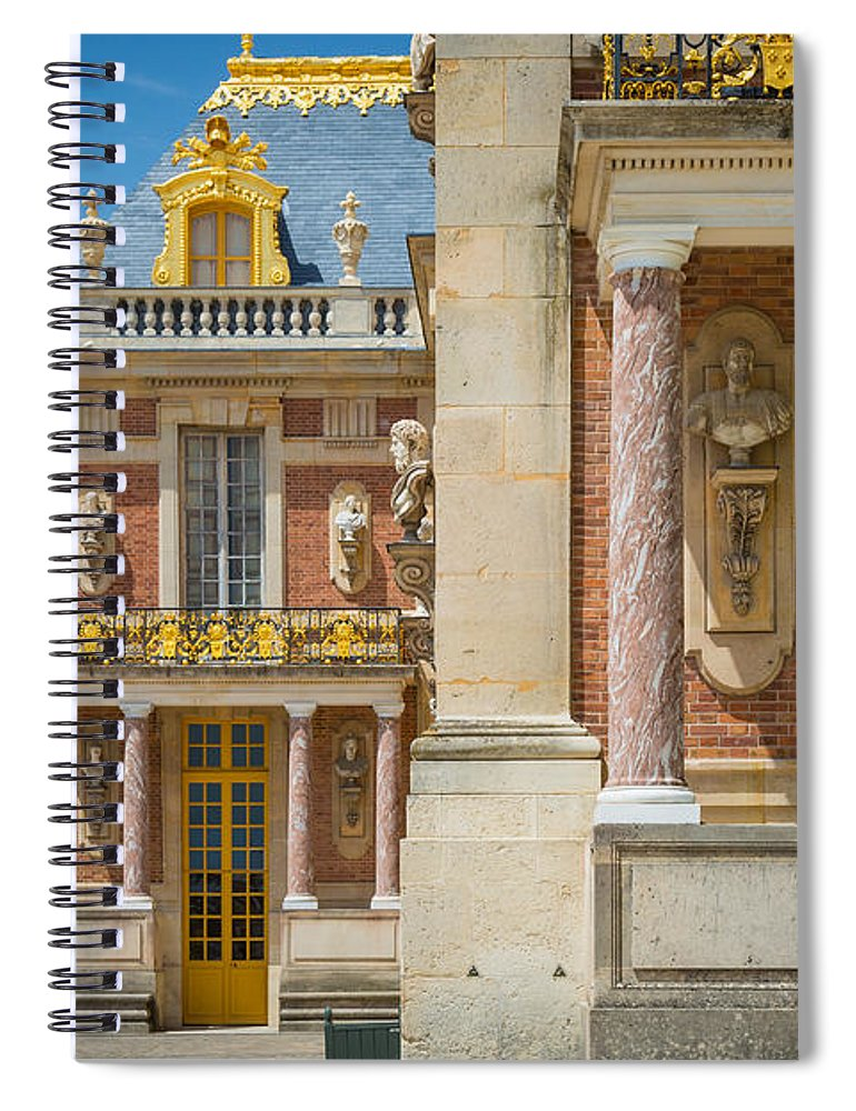Europa Spiral Notebook featuring the photograph Versailles Splendor by Inge Johnsson