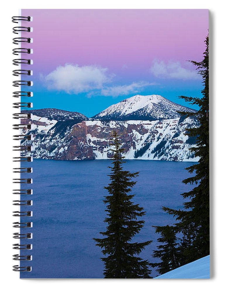 America Spiral Notebook featuring the photograph Vibrant Winter Sky by Inge Johnsson