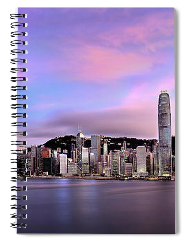 Tranquility Spiral Notebook featuring the photograph Victoric Harbour, Hong Kong, 2013 by Joe Chen Photography