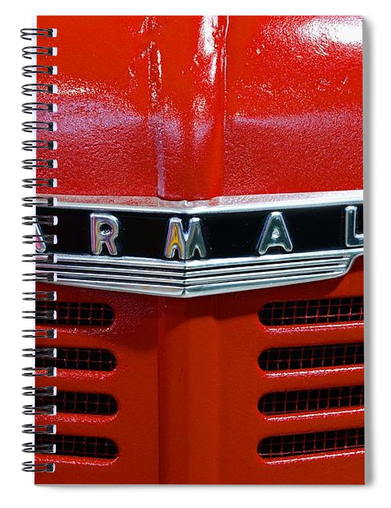 Paul Ward Spiral Notebook featuring the photograph Vintage 1947 Farmall Tractor by Paul Ward