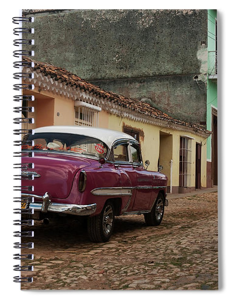 Latin America Spiral Notebook featuring the photograph Vintage American Cars In Cuba by John Elk Iii