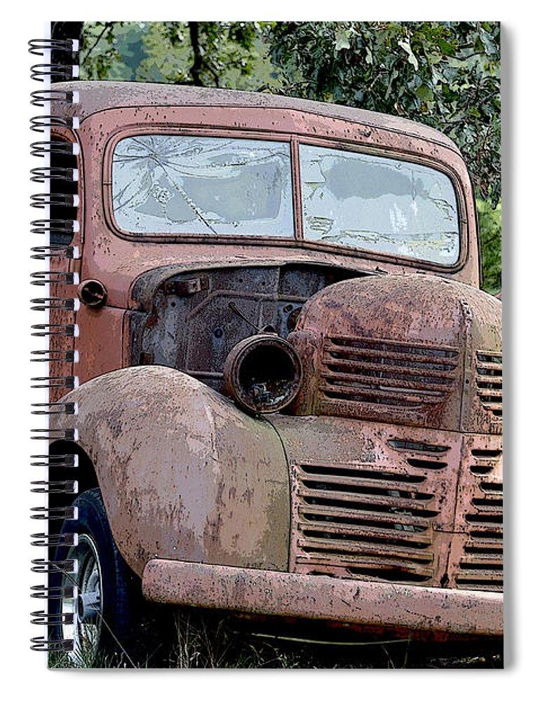 Vintage American Pickup Trucks Color Spiral Notebook for Sale by ...