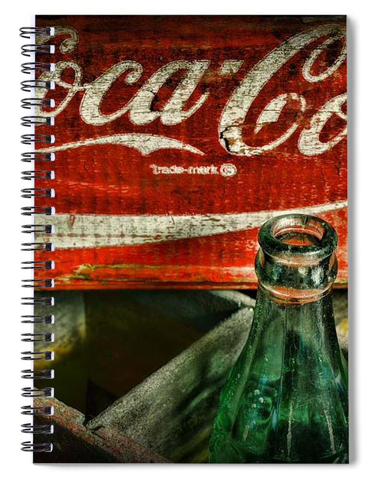 Coke Spiral Notebook featuring the photograph Vintage Coca-cola by Paul Ward