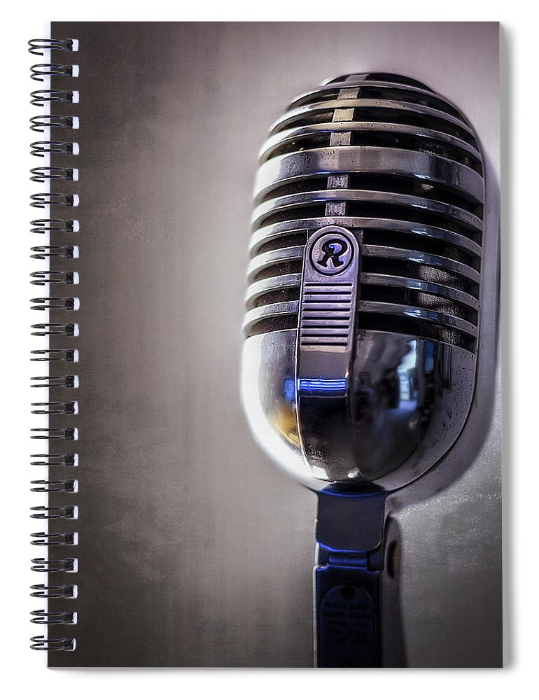 Mic Spiral Notebook featuring the photograph Vintage Microphone 2 by Scott Norris