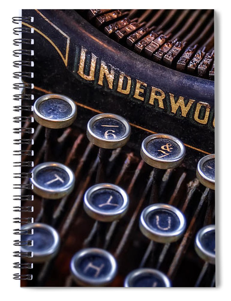 Retro Spiral Notebook featuring the photograph Vintage Typewriter 2 by Scott Norris