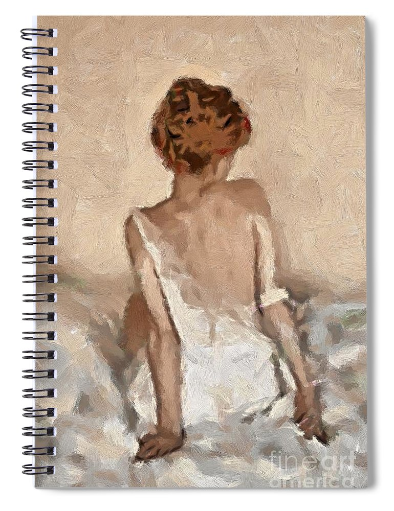 Figurative Spiral Notebook featuring the painting Virginity by Dragica Micki Fortuna