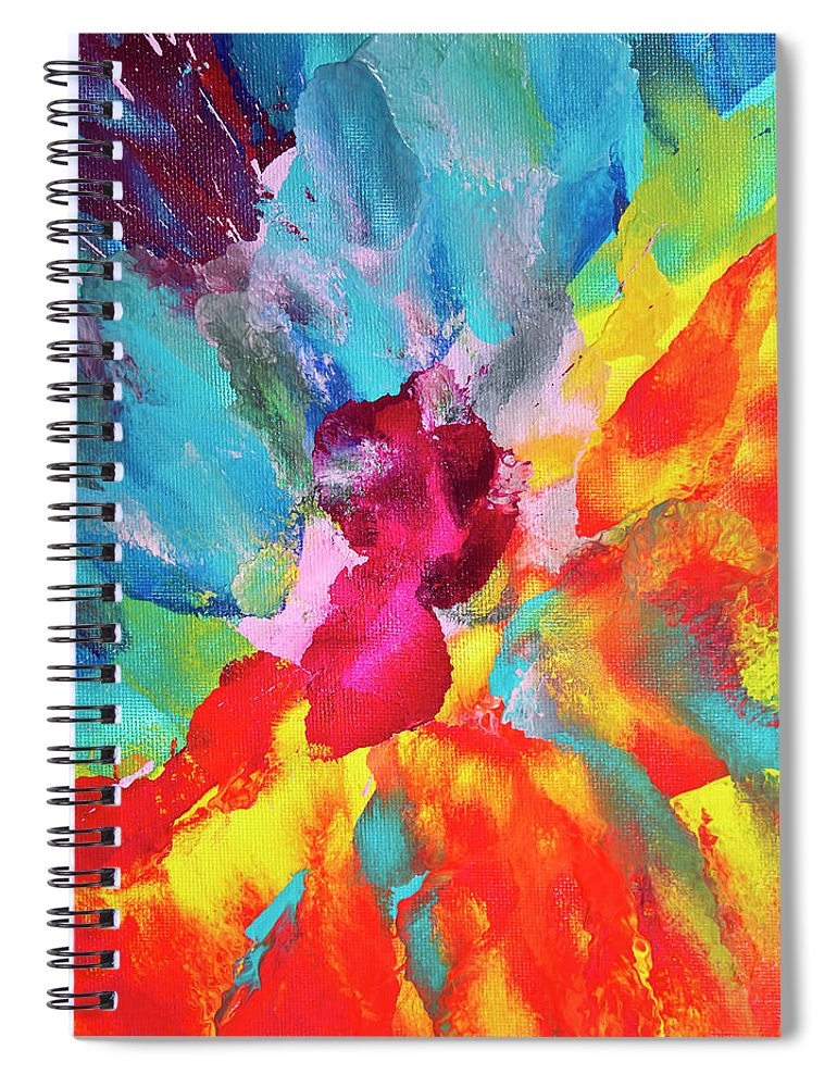 Art Spiral Notebook featuring the digital art Vivid Multicolored Abstract Art On by Cstar55