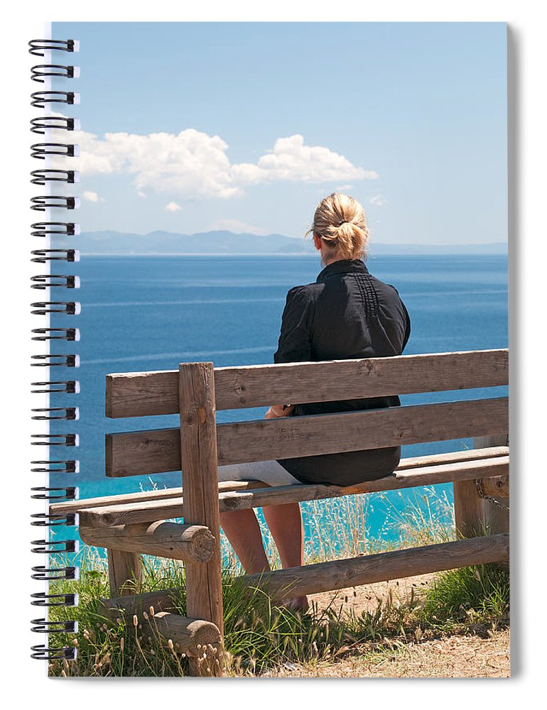 Adult Spiral Notebook featuring the photograph Looking by Roy Pedersen
