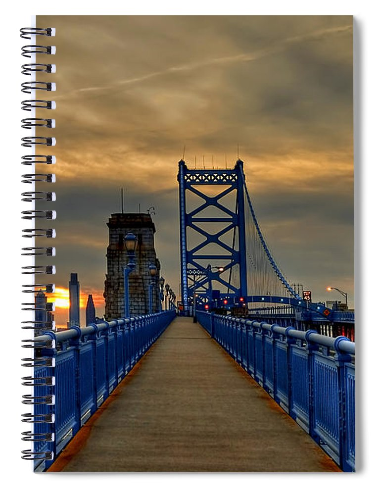 America Spiral Notebook featuring the photograph Walk with Me by Evelina Kremsdorf