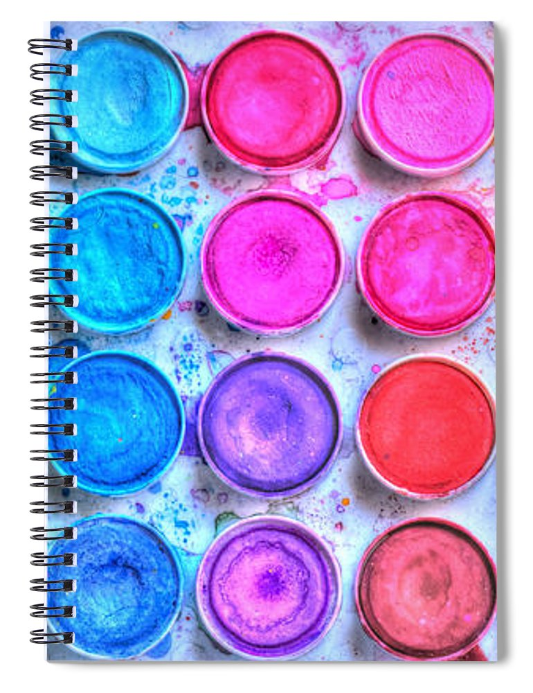 Paint Spiral Notebook featuring the photograph Watercolor by Heidi Smith