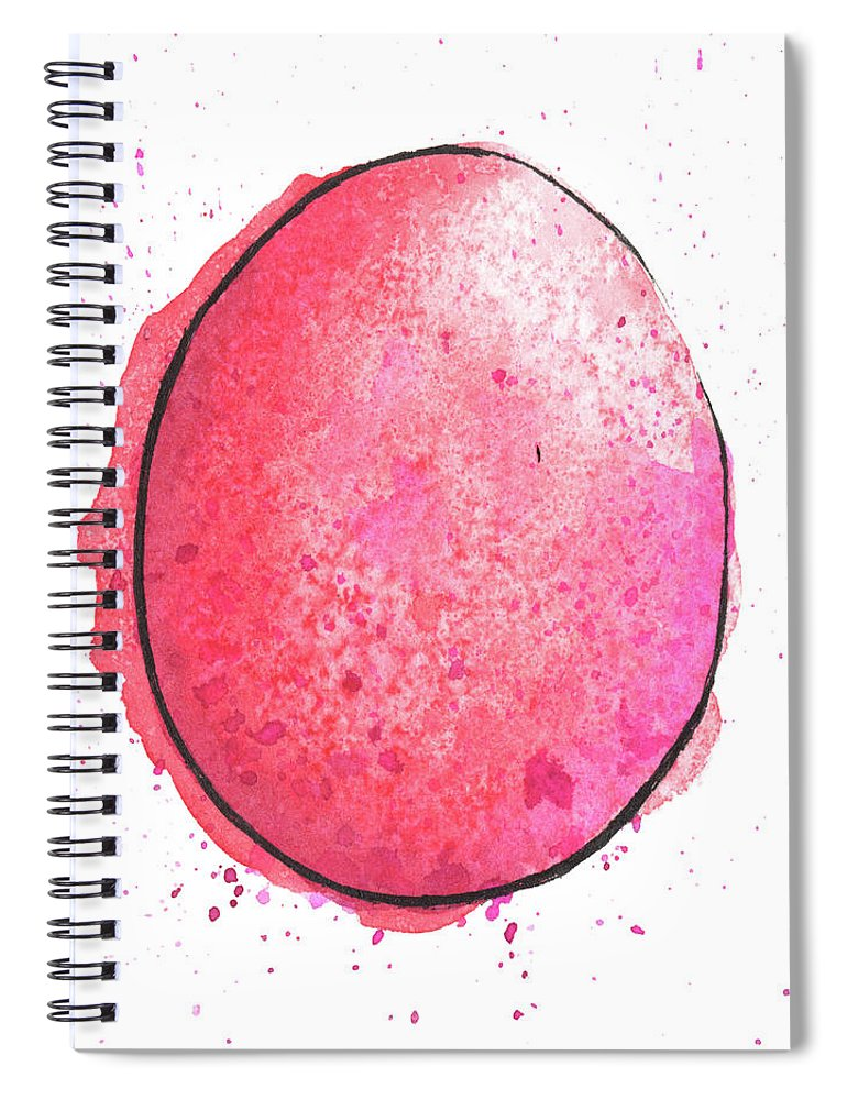 Watercolor Painting Spiral Notebook featuring the digital art Watercolor Painting Of A Colorful by Andrea hill