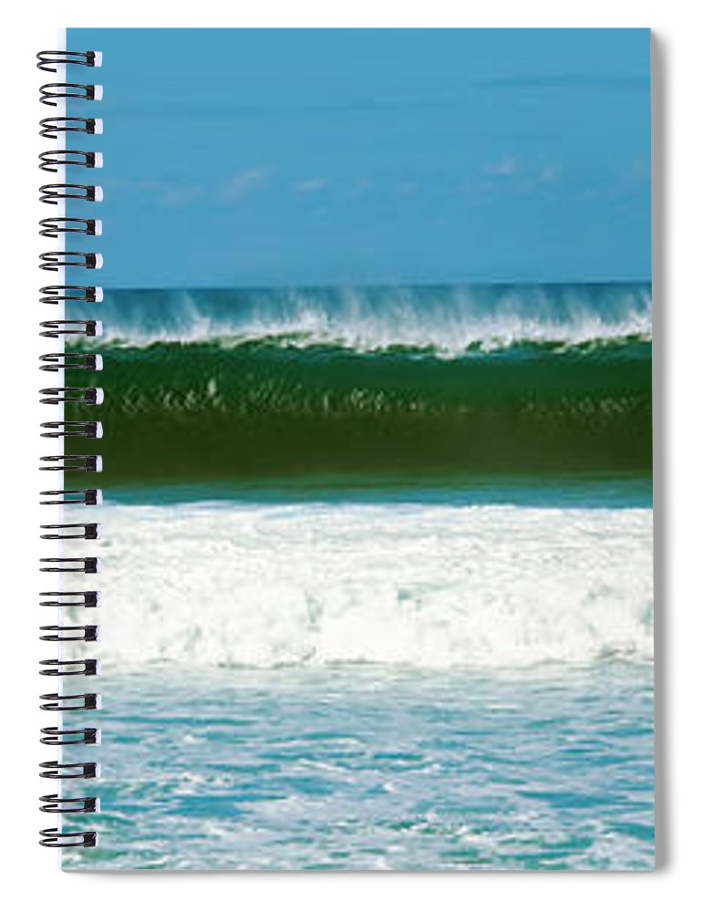 Photography Spiral Notebook featuring the photograph Waves In The Pacific Ocean, Hawaii, Usa by Panoramic Images