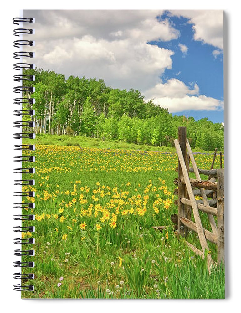 Tranquility Spiral Notebook featuring the photograph Welcome To Heaven On Earth by Amy Hudechek