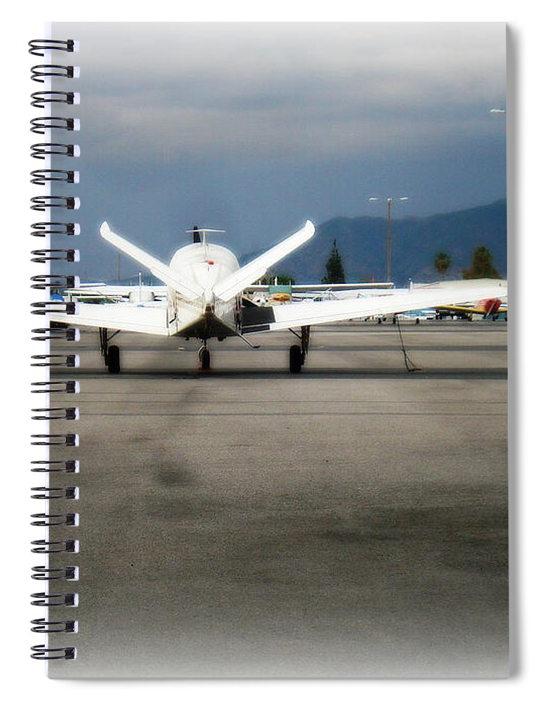 Aviation Spiral Notebook featuring the photograph What fly girl is dreaming about by De La Rosa Concert Photography