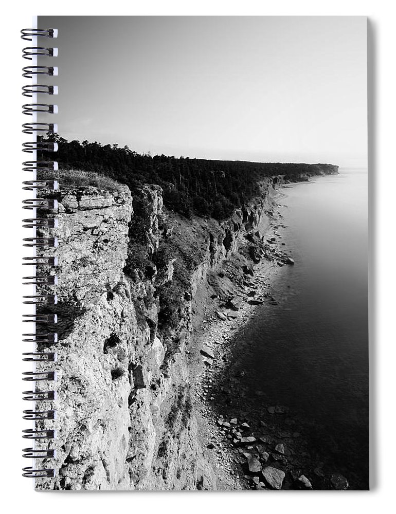 Nature Spiral Notebook featuring the photograph Where Sea Meets Land by Nicklas Gustafsson