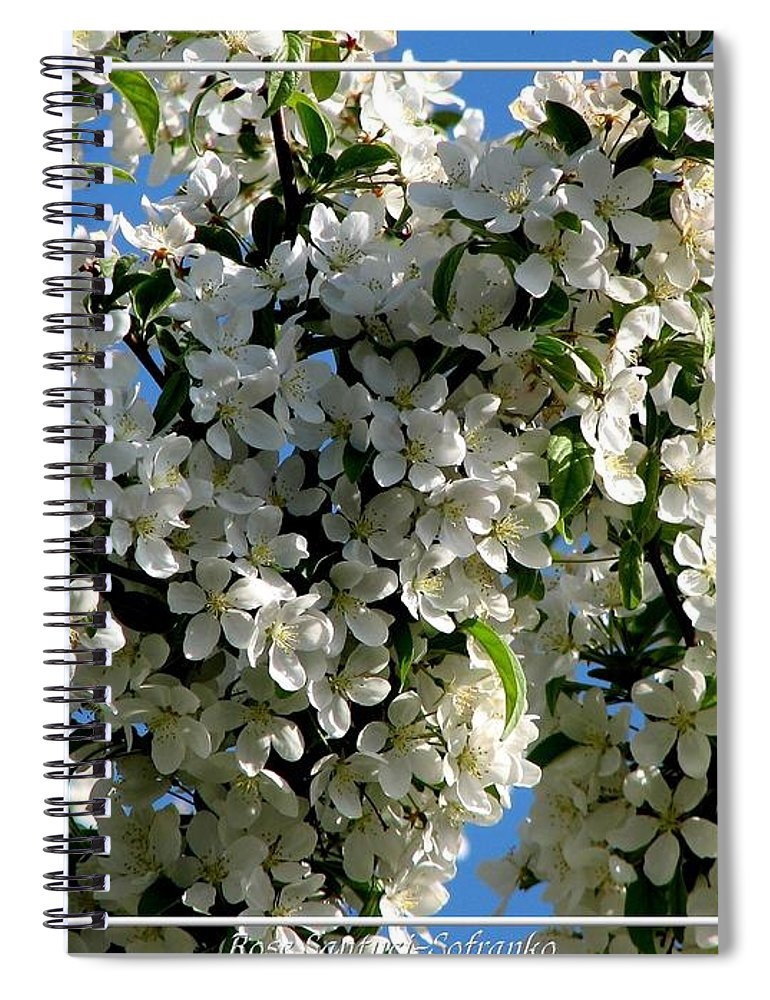 White Flowering Crabapple Tree Spiral Notebook For Sale By Rose