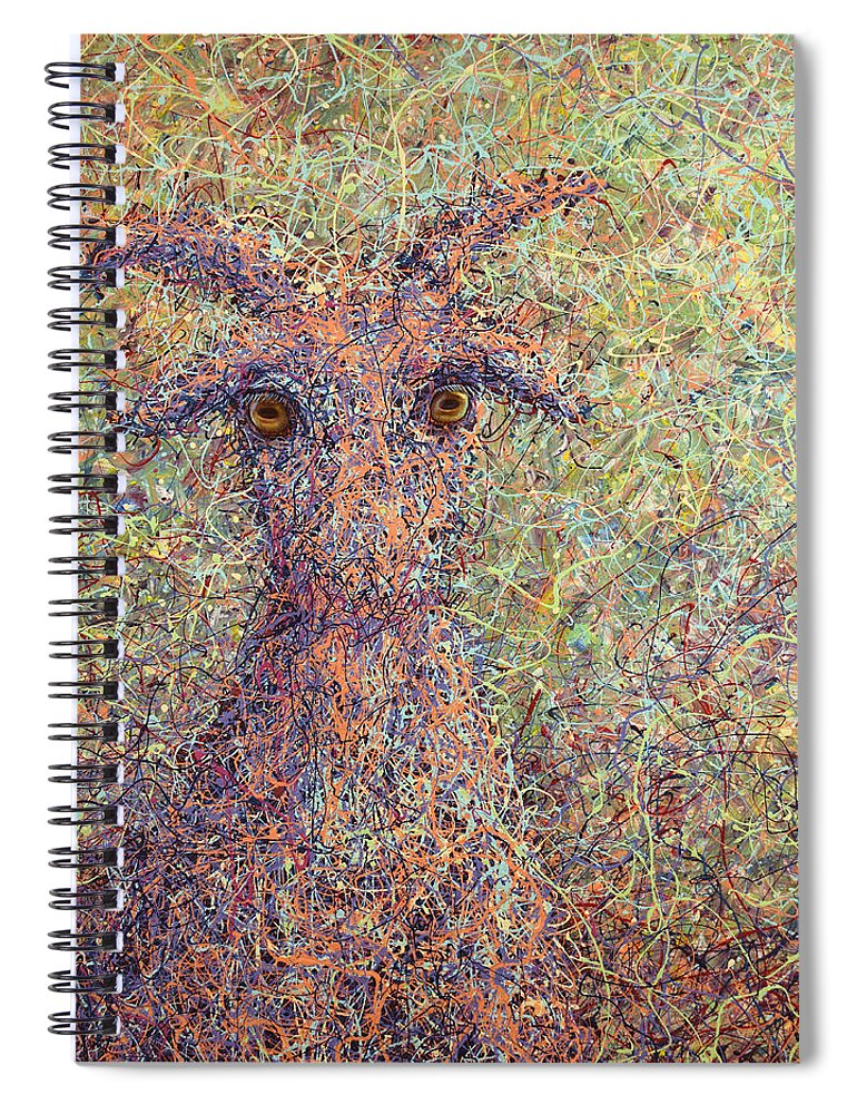 Goat Spiral Notebook featuring the painting Wild Goat by James W Johnson