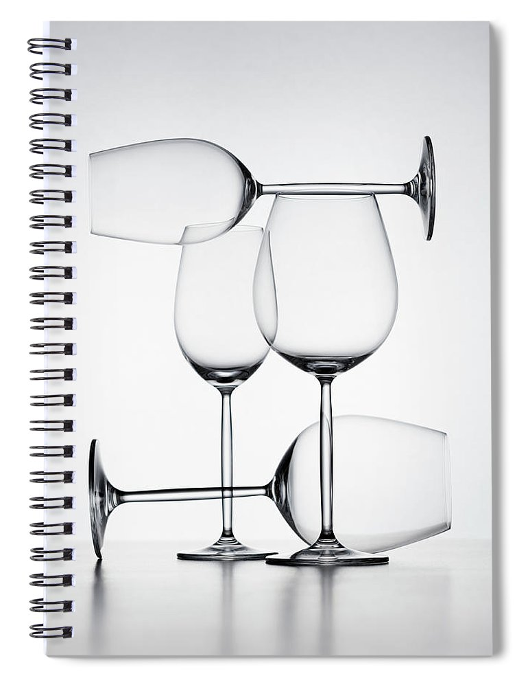Empty Spiral Notebook featuring the photograph Wine Glasses by Jorg Greuel