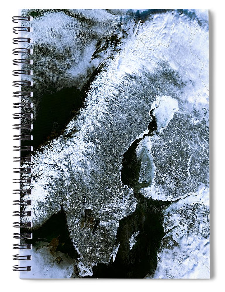 Winter Scandinavia Satellite Map Spiral Notebook on hdtv for sale, weather for sale, fm for sale, breeze for sale, boom for sale, power for sale, turismo for sale, wind for sale, transportation for sale, hd for sale, polara for sale, service for sale, rx for sale, sky for sale, safe for sale, road for sale, internet for sale, virus for sale, technology for sale, audio for sale,