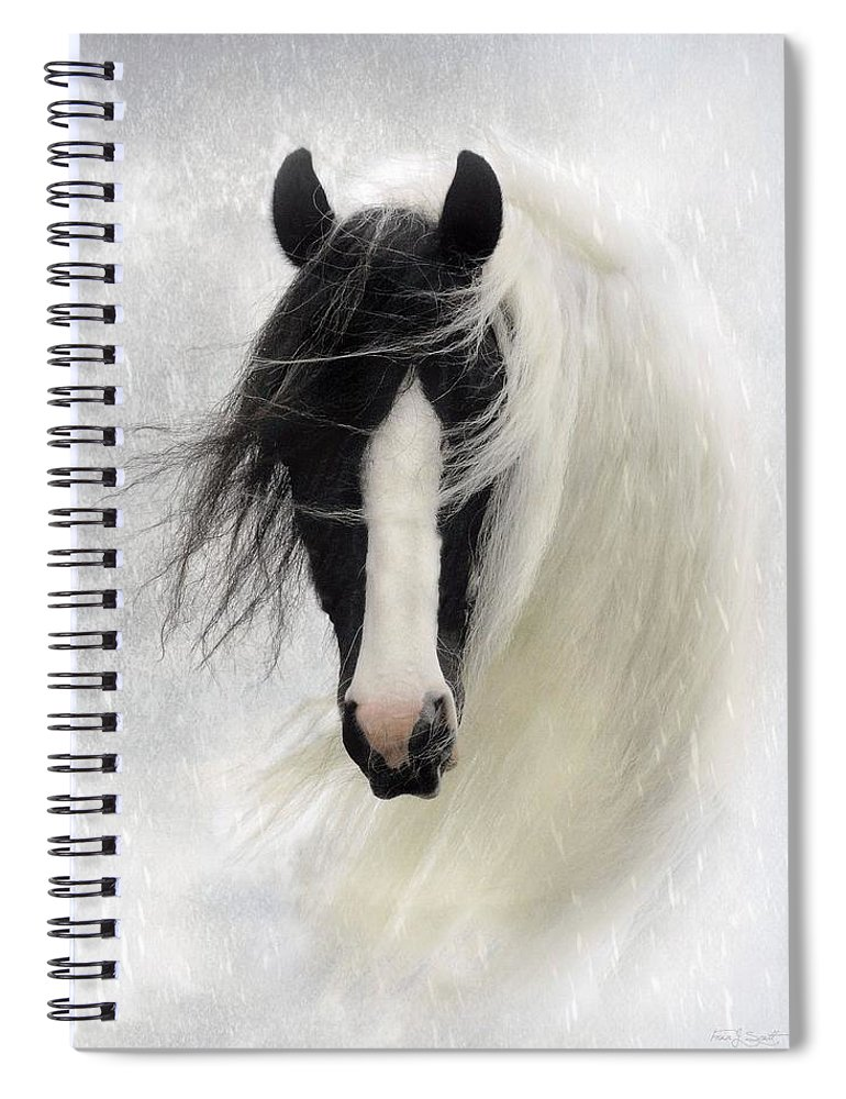 Horses Spiral Notebook featuring the photograph Wisteria by Fran J Scott