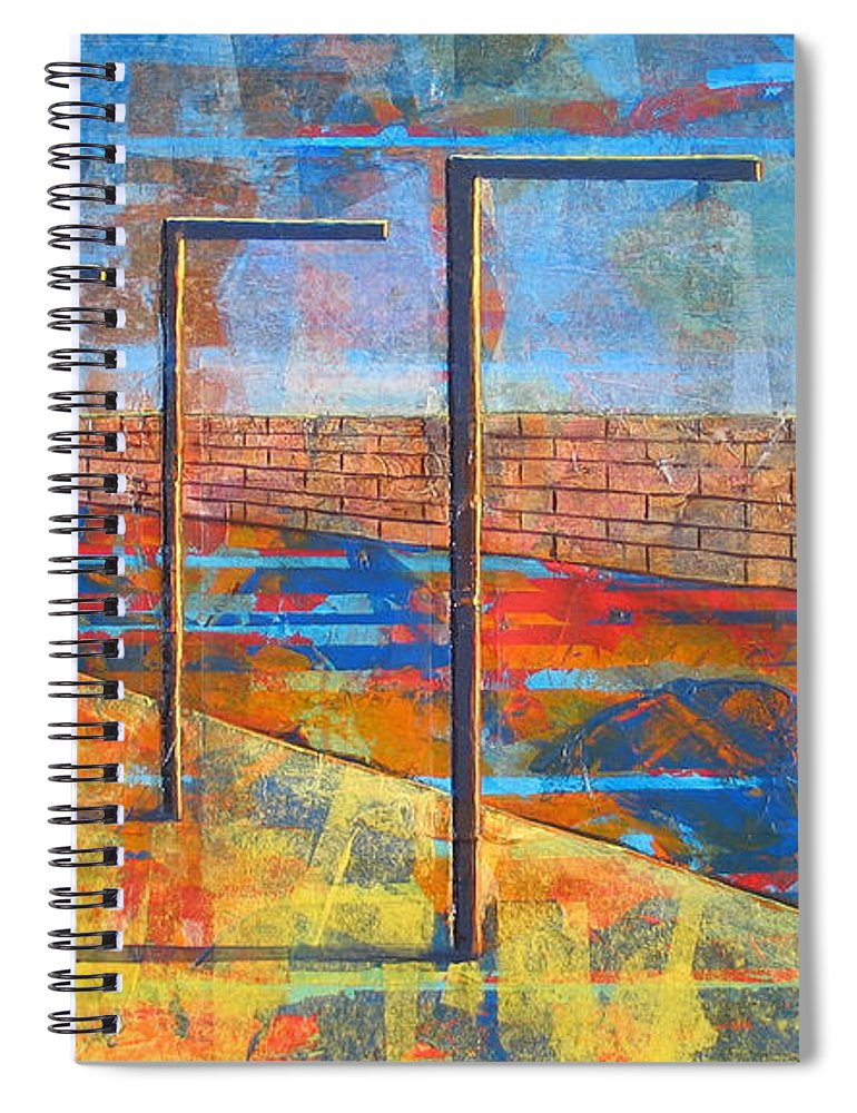 Landscape Spiral Notebook featuring the painting Within These Walls by Rollin Kocsis