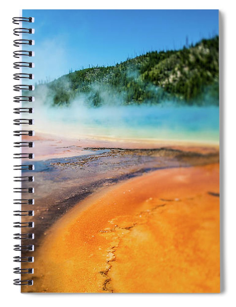 Scenics Spiral Notebook featuring the photograph Yellowstone by Eddy Joaquim